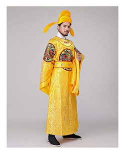 Costume de l'empereur chinois brodée Dragon Robe drama Film Performance TV Hanfu cosplay vêtements masculins vêtements de scène