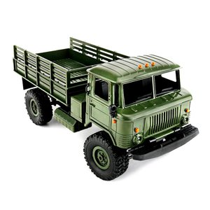 Elétrica Wpl B -24 Gaz -66 Diy 1: 16 Rc escalada militar Truck Mini 2 .4g 4WD Off -road RC Cars Off -Estrada Racing Car Rc Veículos Rtr Toy
