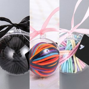 Children's accessories lollipop boxed Ring Ball set rubber Rubber band rope Lollipop hair rope band hair bundle