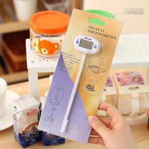 En Yeni Dijital Gıda Termometre barbekü Pişirme Et Sıcak Su Tedbir Ev Kek Şeker Fry Termometreler Probe Mutfak Thermograph Aracı
