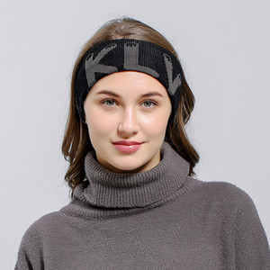 Diadema de ganchillo de punto Mujeres Deportes de invierno Headwrap Hairband Turbante Head Band Ear Warmer Beanie Cap Diademas RRA1935