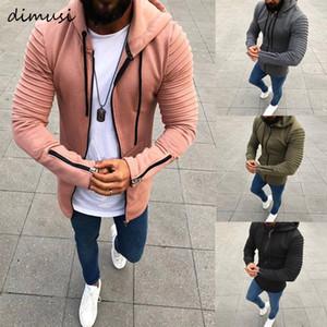 Felpe con cappuccio Slim Felpe DIMUSI Primavera Uomo Autunno Mens Coats Casual Male sportivo Streetwear marchio di abbigliamento 5XL, TA299