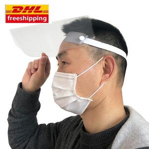 DHL Gemi Koruyucu yüz kapağını sürme yağ sıçrama toz şapka çocuklar yetişkin yüz maskesi yağmurlu pişirme tam yüz Anti-sis koruyucu maskeler maske