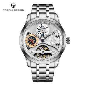 de PAGANI design da marca Men Moda Relógios Mecânicos Luxo aço inoxidável impermeável relógio automático Business casual Relógio Homens