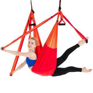 Fitness Yoga Stretch Belts Anti-Gravity Aerial Yoga Swing Sling Inversion Hammock Hammock Sling Strength Exercise
