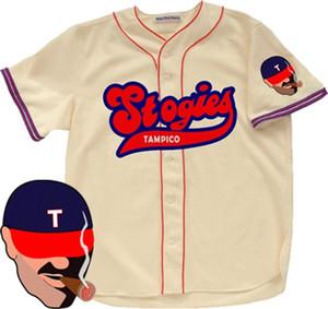 Tampico Stogies 1957 Accueil Baseball Jersey couleur blanche Hommes Lady enfants personnalisés Tout nom et numéro Livraison gratuite Taille S-3XL