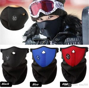 New Bicycle mask Winter Ski snow neck warmer face mask helmet for Skate Bike Motorcycle Cycling Caps Face party Masks 10pcs lot C0186