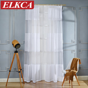 Horizontal Striped Curtains Tulle for Living Room Window Curtains for the Bedroom Modern Living Room Striped Tulle