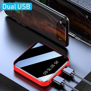 Potenza Banche Nuovi arrivi Dual Port 2.1A 10000 / 20000mAh Portable USB Mini Packet Powerbank caricabatterie del telefono cellulare Potenza Banche