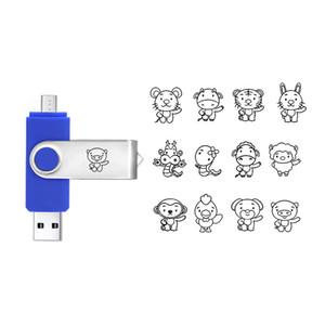 도매 전 용량 USB 2.0 주문 OTG USB 섬광 드라이브 8G 16G 32G는 당신의 로고 USB를 주문을 받아서 만들었습니다