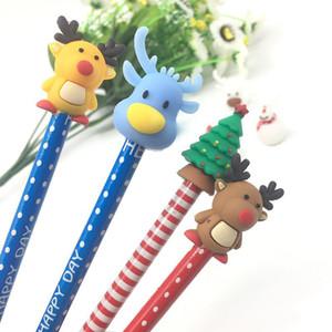 참신 만화 동물 조치 PVC 엘크 연필 토퍼 플라스틱 미니 어리버리 컵 재미 창조적 인 어린이 장난감 펜 장식 도매 피규어