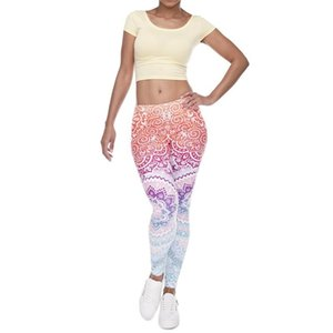 Retro Print Gym Legging Women Fitness Energy Tights New Elastic Sports Leggings Female Breathable Yoga Pants Running Active Wear