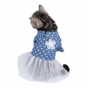 PipiFren Small Cats Clothes Dresses Lace Wedding Princess Skirt For Pets Party Dress Cats Dog Clothes katten kleding kedi