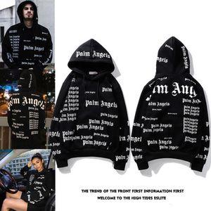 hommes hoodies designer de lettre manteau bande pull noir métal rétro ange polaire hoodies hommes, plus cachemire sweat 2020 Nouveau