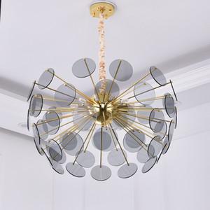 Moderne Luxus LED Kronleuchter Licht Goldene Glas Kreative Kunst Nordic Einfache Restaurant Amerikanischen Stil Schlafzimmer Kronleuchter