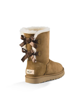2020HOT designer australia boots for women classic ankle short bow fur boot snow winter triple black chestnut navy blue fashion women shoes