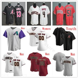 Individuelle 2020 Herren Kinder Damen Baseball 17 Brandon Webb 38 Curt Schilling 18 Carson Kelly 16 Tim Locastro Ildemaro Vargas Kevin Cron Trikots
