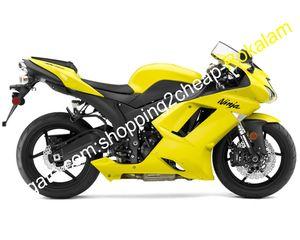 Kawasaki ZX6R için Kaporta, 07 08 Ninja zx636 ZX 6R 636 ZX6R 2007 2008 Sarı ABS Plastik Fairing Seti (Enjeksiyon kalıplama)