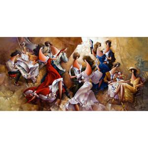Натюрморт маслом абстрактного искусства венский вальс современная картина ручной декор стен