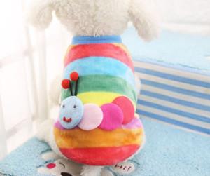 1PCS Pet tissu Puppy Dog Cat Hiver chaud Cartoon Gilet Jumpsuit manteau d'automne vêtements d'hiver T-shirt chaud de la mode XXXS-XS