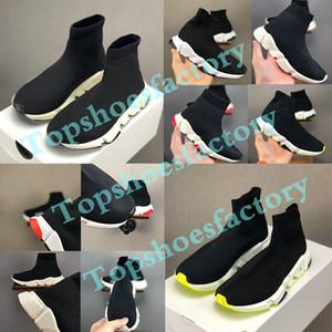 Balenciaga Kid Sock shoes Luxury Brand Çizme Çocuk Casual Flats Speed Kayma-On Antrenör Sneakers Erkek Kız Yüksek Üst rahat ayakkabı 24-36