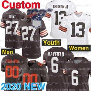 Özel ClevelandKahverengi Kadınlar Erkekler Gençlik Jedrick Wills Jr Formalar 19 Bernie Kosar 7 Jamie Gillan Sione Takitaki 57 Kil Matthews Avı