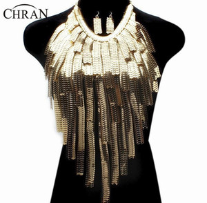 Chran Stunning Sexy Body Belly, Waist, Women Lady Tassel Choker Necklace Gold Chain Necklace Party Evening Dress Decor Ddby251 J190711