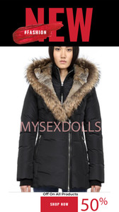 Nueva calidad de Canadá mujeres Trillium Hembra Aire libre piel Down Jacket Hiver caliente grueso ganso abajo cubren la chaqueta con capucha Espesar Fourrure