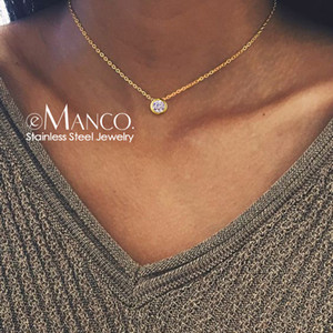 e-Manco Classic Stainless Steel Necklace for women Designer Jewelry Luxury Necklace Women 2019 Statement