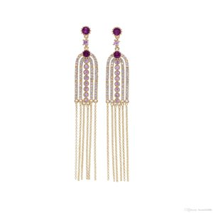 Alta Moda Super Barroco Do Vintage Brincos S925 Sterling Silver Needle Stud Brincos Super Zircon Dangles Lustre
