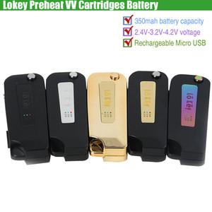 Lokey Ön Isıtma VV Kartuşları Pil Lo Anahtar 350 mAh Değişken Gerilim Ön Isıtma Çevirme Vape Mod USB Şarj 510 Kalın Yağ O Kalem ecigs Buharlaştırıcılar