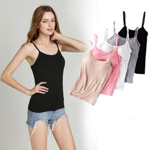 Modal Underear Com Peito Pad Vest Estilingue Feminino Esportes Yoga Fora Vestindo Uma Camisa Inferior Dentro de Casa Terno Grande Código de Pa ...