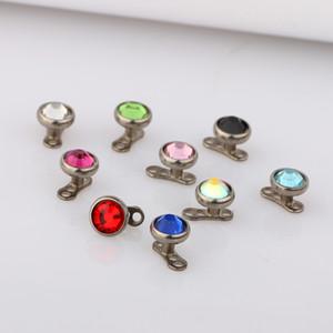 14g g23 titanium micro âncora dérmica 316l top de aço inoxidável e unidade de base pele extravagante jóia do corpo