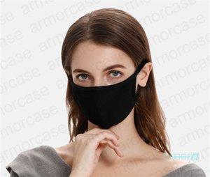 DHL-Gesichtsmaske, Frühling, Sommer 2 Schichten Modal Baumwolle Maske UV-Beweis atmungsaktiv Waschbar Anti-Staub-Mund-Muffel mit Einzelpackung D42008