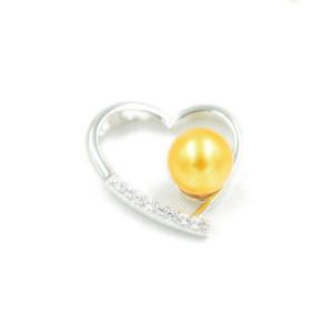 Fshion Lover S925 İnci kolye kolye Ayar Montaj Tabanı% 100 Katı 925 Gümüş Yarı Dağı Kadın Takı DIY Bulguları DZ046