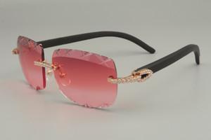 النظارات الشمسية عدسة، الحجم: 2019 الأسود الخشب بيع الماس الفاخرة مباشر X 8300756-B النقش النظارات الشمسية الطبيعية تخصيصا 56-18-135mm Hkkf