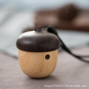 Bluetooth Speaker 20pcs mini altoparlante portatile di legno sveglio Noci Forma Design unico Outdoor altoparlante per Zaino Phone