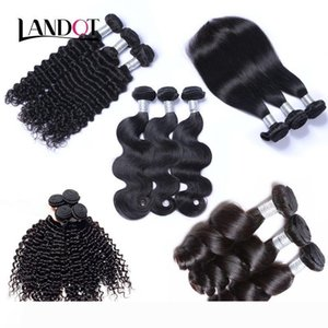 Peruvian Indian Malaysian Cambodian Brazilian Virgin Human Hair Weave 3 4 5 Bundles Brazilian Straight Loose Deep Curly Water Body Wave Hair