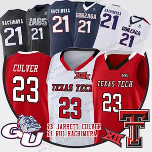 23 Jarrett Culver NCAA Texas Tech Basketbol Formalar 2019 Final Four Gonzaga Bulldogs 21 Rui Hachimura Jarrett Culver forması