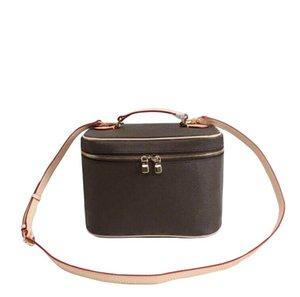 Top de alta calidad bolsas de maquillaje de cuero mujeres bolsa de cosméticos famosa compone la caja del organizador grandes viajes neceser de viaje bolsas