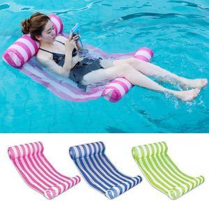Summer New Water Отдых Кресло Плавающая Кровать Надувная Складная ПВХ Плавательное Кольцо (может Подшипник 100 кг)