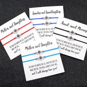 Компас Sailing Navy Nautical Регулируемые браслеты Antique Silver Charms Женщины Мужчины Мальчики Унисекс пару ювелирных Friend подарков