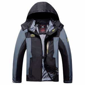 Men Windbreaker Hiking Jackets Male Windproof Waterproof Hood Jacket Outdoor spring Autumn Coat Clothing Plus Size 6XL 7XL 8xl