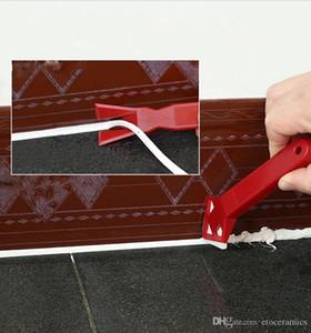 Nuova stazione di finitura professionale per la rimozione dei residui di calafataggio realizzata dai costruttori Scelta degli strumenti Utensili a bulbo limitato Detergente per piastrelle