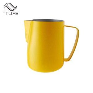 0.3-0.6L Aufschäumen Pitcher Pull-Blumen-Cup-Kaffeetasse Milchkrug Frother Latte Art Milchschaum Werkzeug Coffeware