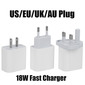 New USB Wall Charger 18W Power Delivery PD Quick Charger Adapter TYPE C Charger US UK EU Plug Fast Charging for Samsung Smatphone