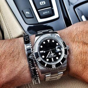 BC Schmuck Mode Brazaletes Pulseras Weinlese überzog Armband-Armband für Männer Edelstahl-Stulpe Speedometer Armband Großhandel BC-127