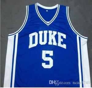Özel Erkekler Gençlik kadınlar 5. DUKE Blue Devils Mavi JEFF CAPEL III Basketbol Jersey Boyut veya özel herhangi bir ad veya numara formayı-4XL S