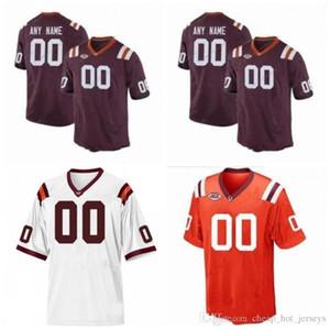 Custom Virginia Tech Hokies 2019 Football Numéro Numéro Red 2 Hendon Hooker 5 Ryan Willis 14 Damon Hazelton Vick NCAA 150ème Jersey