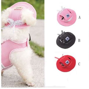 Pet Hat Bowknot Malha Respirável Cão Sunscreen Boné de Beisebol Cães Animais de Estimação suprimentos para animais de estimação filhote de cachorro roupa